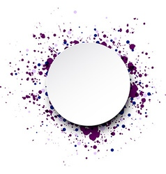 Background with colour drops vector image