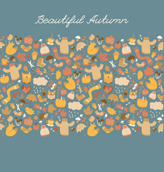 beautiful fall elements background vector image