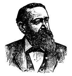 Benjamin harrison vintage vector