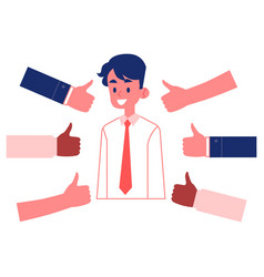 best worker approval concept happy man vector image