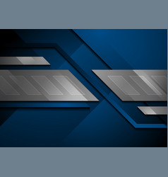 Blue and silver grey abstract technology vector