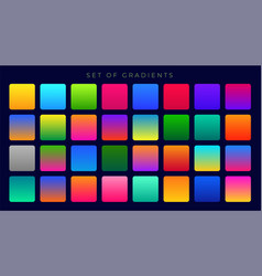 Bright colorful gradients background huge set vector