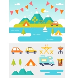 Camping and Outdoor Activities vector