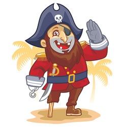 cartoon pirate salute vector image