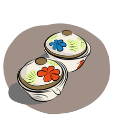 Ceramic Sauce dish vector