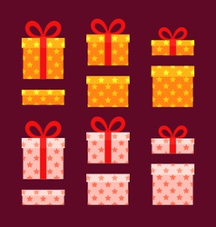 Christmas Boxes vector image
