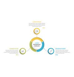 circle infographics - three elements vector image