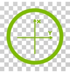 Coordinate Axis Rounded Icon vector