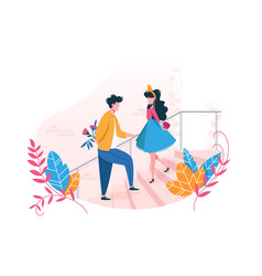 couple in love on date vector image