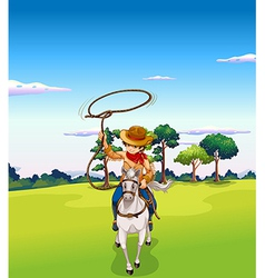 cowboy riding vector image