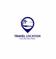 Creative and professional map pin for travel logo vector