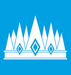 crown icon white vector image