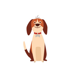 cute beagle dog or puppy sitting humor flat vector image