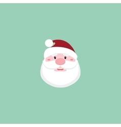 Cute Santa claus face vector image