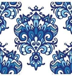 Damask ethnic floral pattern vector
