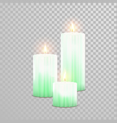 decorative candle isolated set vector image