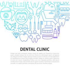 dental clinic line concept vector image