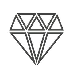 Diamond icon isolated over white vector