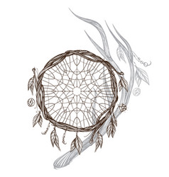 Dreamcatcher native american indians talisman vector