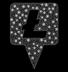 Flare mesh carcass litecoin map pointer with flare vector