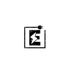 Flash logo initial e symbol electrical icon vector