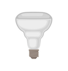 Flat icon of halogen lamp gray light bulb vector