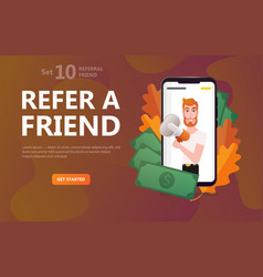 friend sharing refer man character hipster vector image