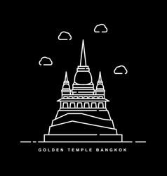 Golden temple bangkok thailand historical vector