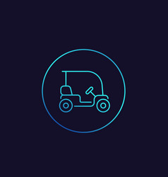 golf cart linear icon vector image