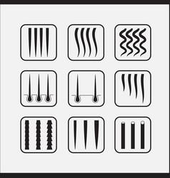 Hair texture chart vector