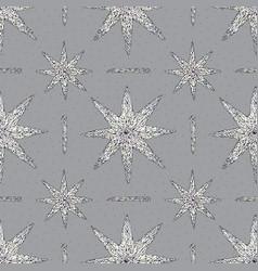 Hand drawn crystals pattern abstract stars vector