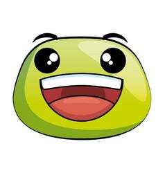 Happy emoji face icon vector
