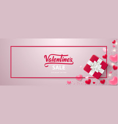Happy valentines day sale background vector