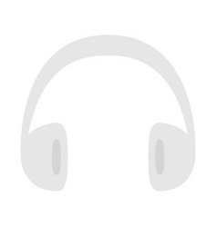 Headphones earphones icon gray silhouette music vector