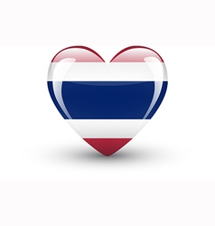 Heart-shaped icon with national flag thailand vector