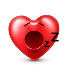 heart smiley emoji for valentines day vector image