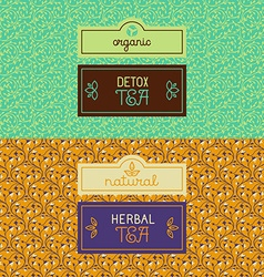 Herbal and detox tea packaging vector image