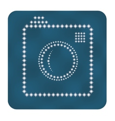 Hipster photo or camera icon as stars vector image