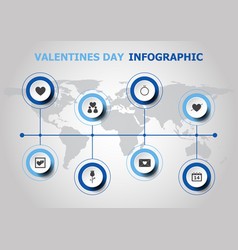 infographic design with valentines day icons vector image