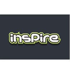 Inspire word text logo design green blue white vector