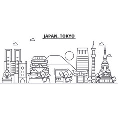 japan tokyo architecture line skyline vector image