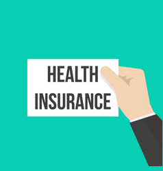 man showing paper health insurance text vector image