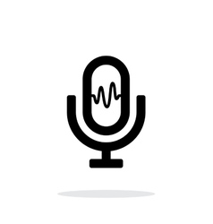 Microphone signal icon on white background vector