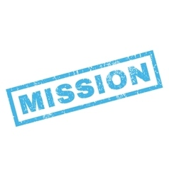 Mission Rubber Stamp vector