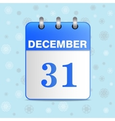 New-year calendar icon vector image