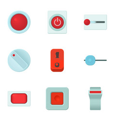online button icons set cartoon style vector image