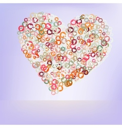 Orange love hearts EPS 8 vector image