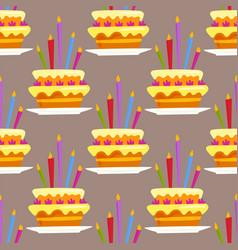 party cake celebration happy birthday surprise vector image