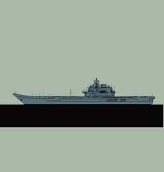 Projekt 11435 soviet aircraft carrier vector