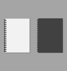 realistic notepad wish sadow flat style on a grey vector image